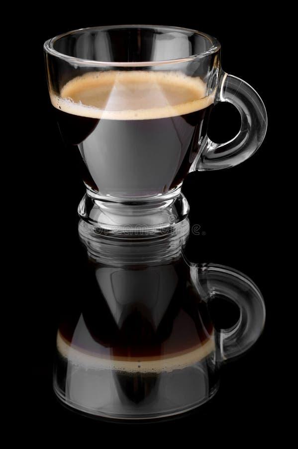 Espresso des schwarzen Kaffees lizenzfreie stockbilder