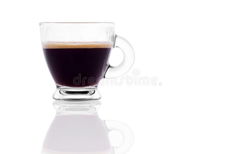 Espresso des schwarzen Kaffees stockfotos