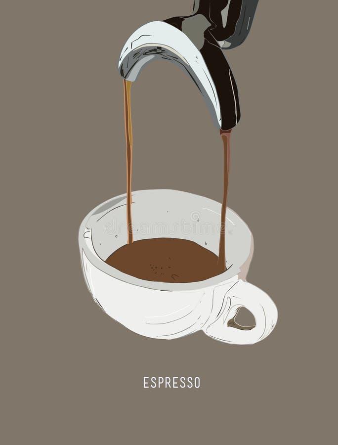 Free Espresso Double Shot , Coffee Machine. Royalty Free Stock Photography - 91852337