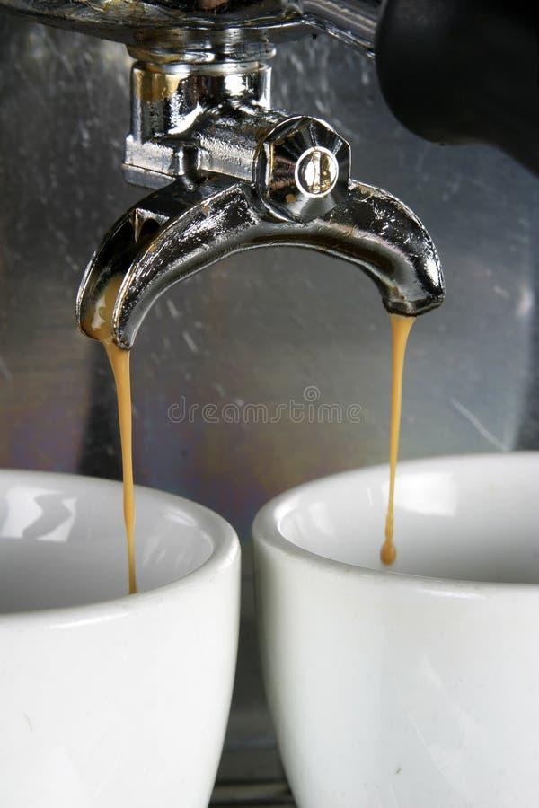 espresso dwa kubki fotografia stock