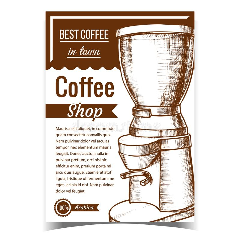 Espresso Energy Drink Brew Machine Vector royalty ilustracja
