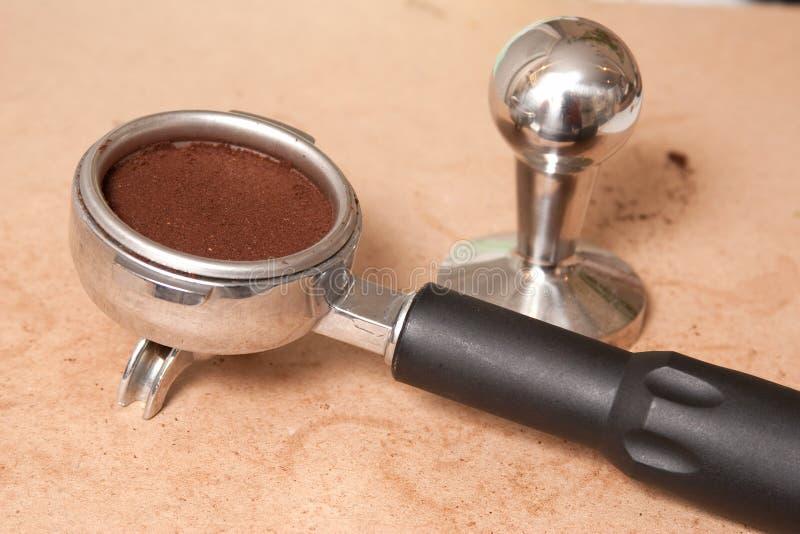 Espresso filter stock photo