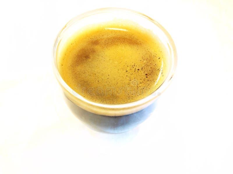 Espresso-Hersteller u. Kaffee stockbild