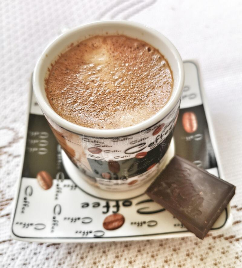 Espresso Italy after nordic walking. royalty free stock photos