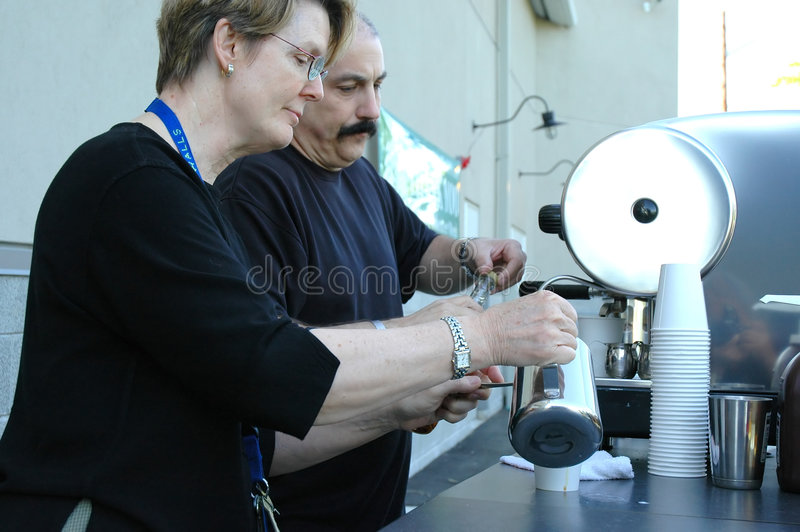 Espresso-Kaffeemaschinen. lizenzfreie stockfotos