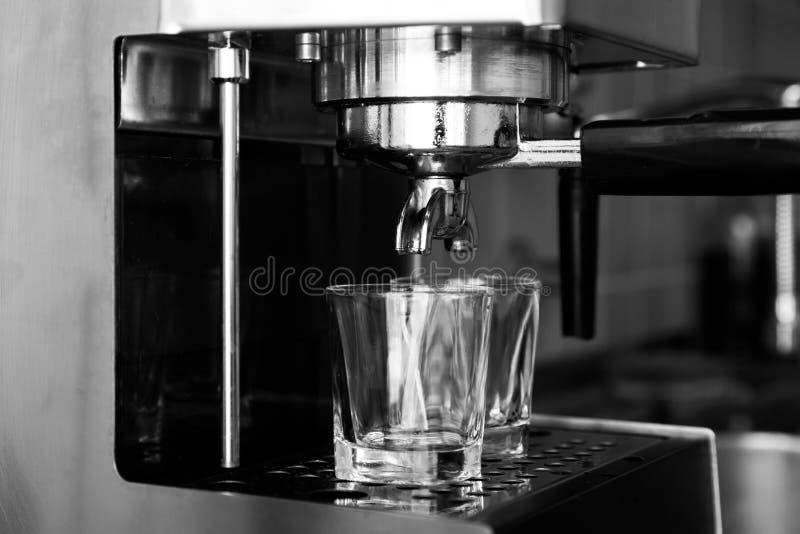 Espresso machine - black and white. Shot of espresso machine - black and white stock image