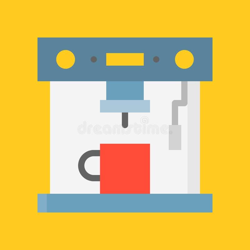 Espresso machine, Kitchen appliance, flat design icon. Espresso machine, Kitchen appliance vector, flat design icon royalty free illustration