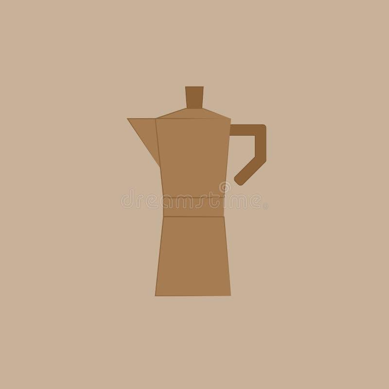 Espresso machine on the brown background. Espresso machine on the light brown background royalty free illustration