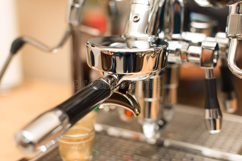 Espresso Machine with shallow DOF stock image