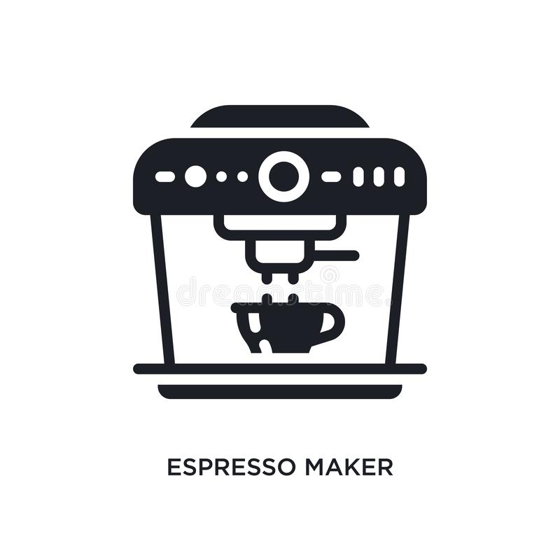 Espresso maker isolated icon. simple element illustration from electronic devices concept icons. espresso maker editable logo sign. Symbol design on white vector illustration