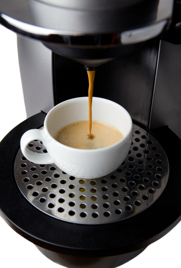 Espresso-Maschine lizenzfreie stockbilder