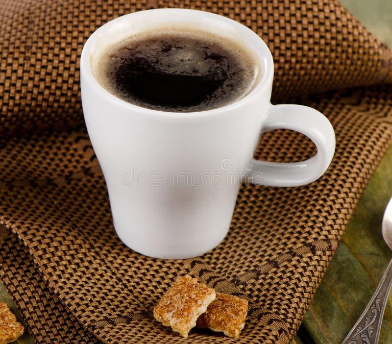 Espresso met koekjes stock fotografie