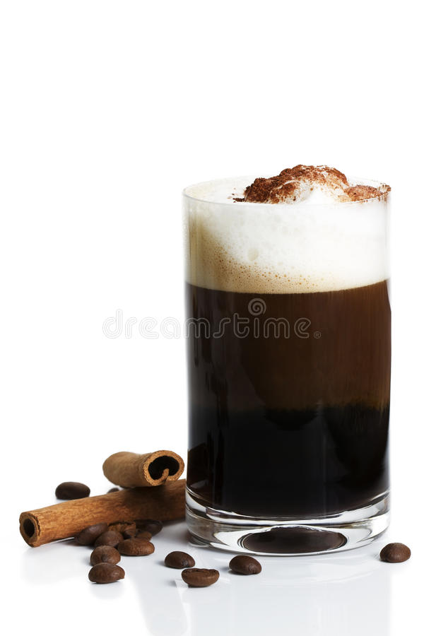 Download Espresso With Milk Froth Cocoa Powder And Cinnamon Stock Photo - Image: 16217612