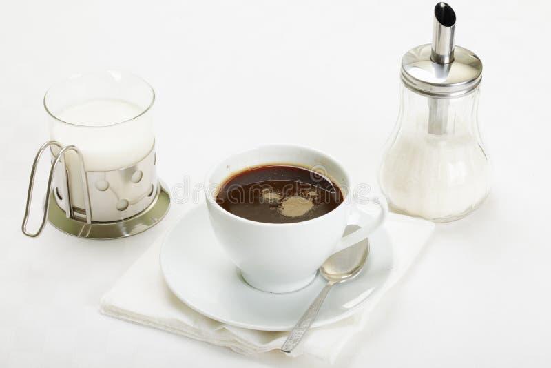 Download Espresso With Milk And Sugar Stock Photo - Image: 16686810
