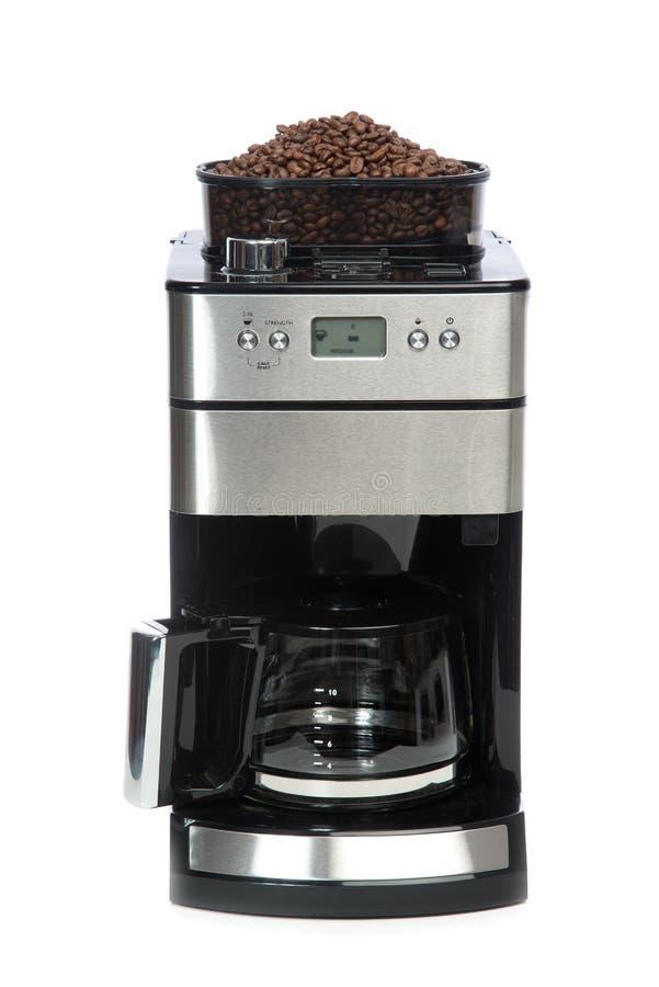 Espresso- och americanokaffe bearbetar med maskin tillverkare arkivfoto