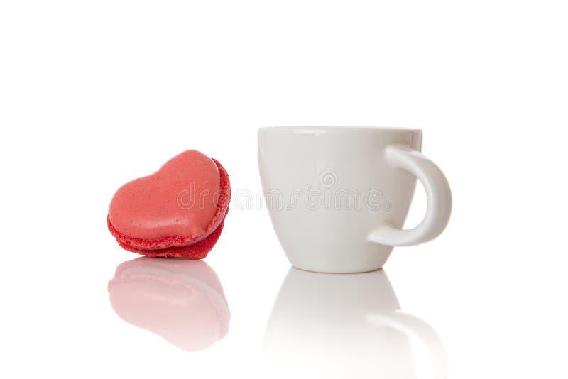 Espresso och kaka arkivbild