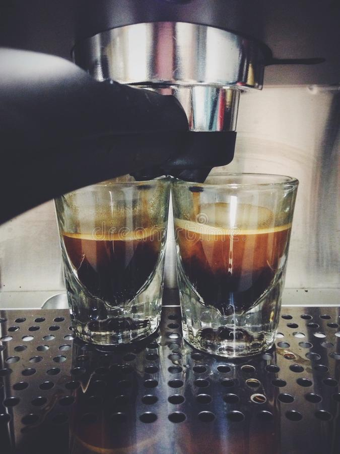 Espresso-Schüsse lizenzfreie stockbilder