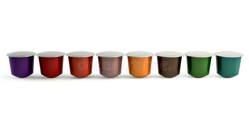 Espressocapsules vector illustratie