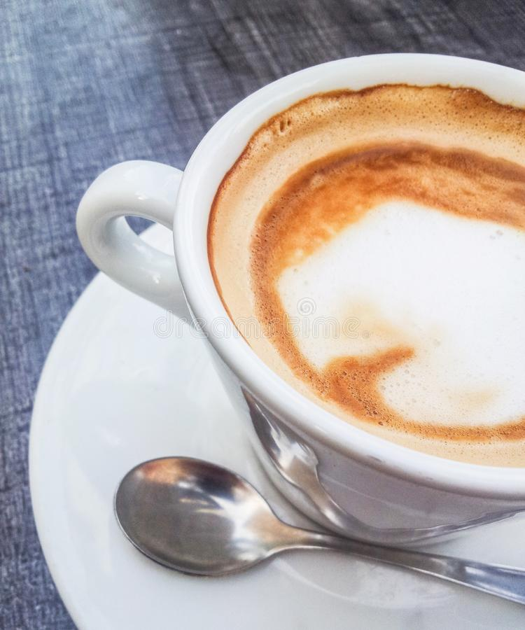 Espressokaffeslut upp royaltyfri foto