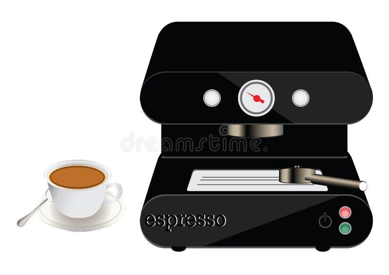 Espressomachine en een kop van koffie vector illustratie