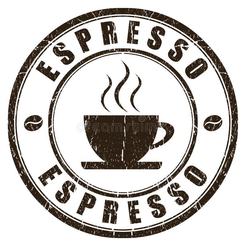 Espressostempel vektor abbildung