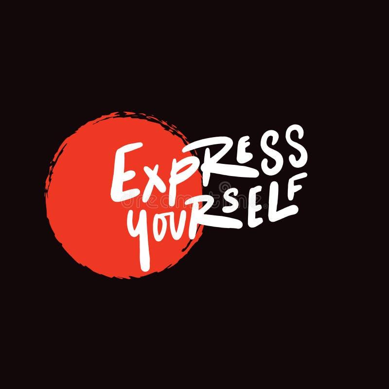 Esprima Citazione scritta mano su fondo nero con macchia rossa Disegno di vettore royalty illustrazione gratis