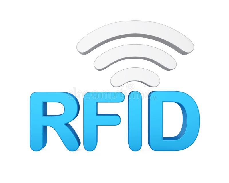 Esprima il ` del ` RFID con la rete del segnale isolata royalty illustrazione gratis