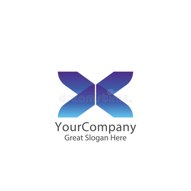 esprima il logo logistico di servizio di trasporto del corriere o della consegna lettera iniziale x del lettertype provvidenza di illustrazione vettoriale