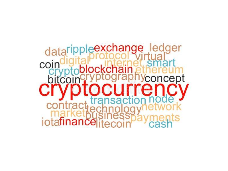 Esprima la nuvola di bitcoin, il cryptocurrency, soldi virtuali isolati illustrazione vettoriale