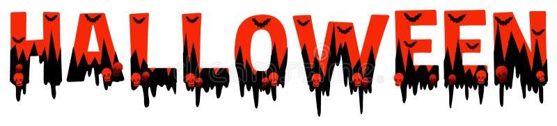 Esprima la progettazione per Halloween in nero ed in arancio illustrazione vettoriale