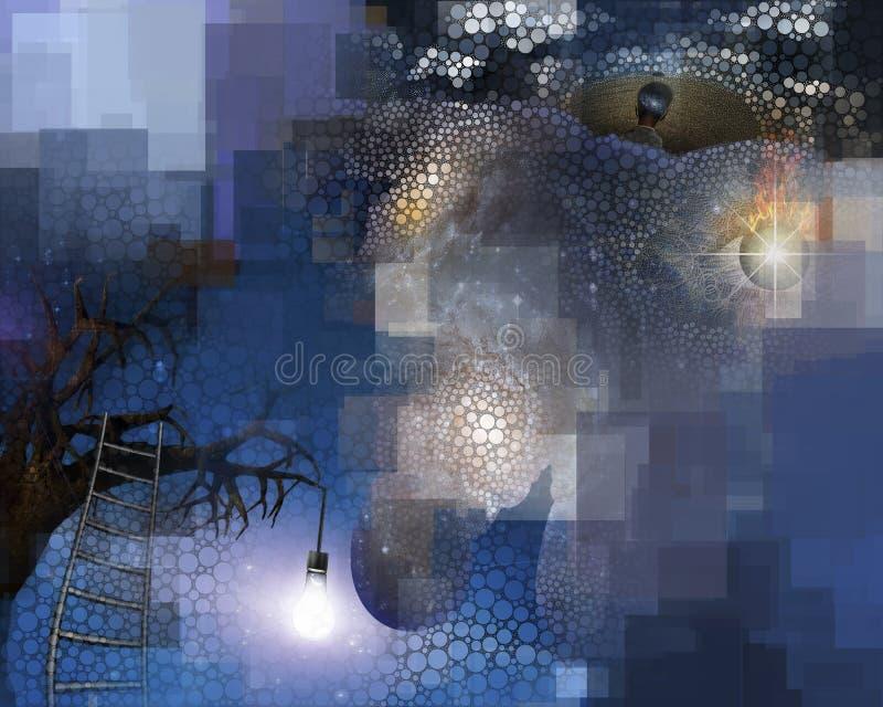 Esprit abstrait illustration de vecteur