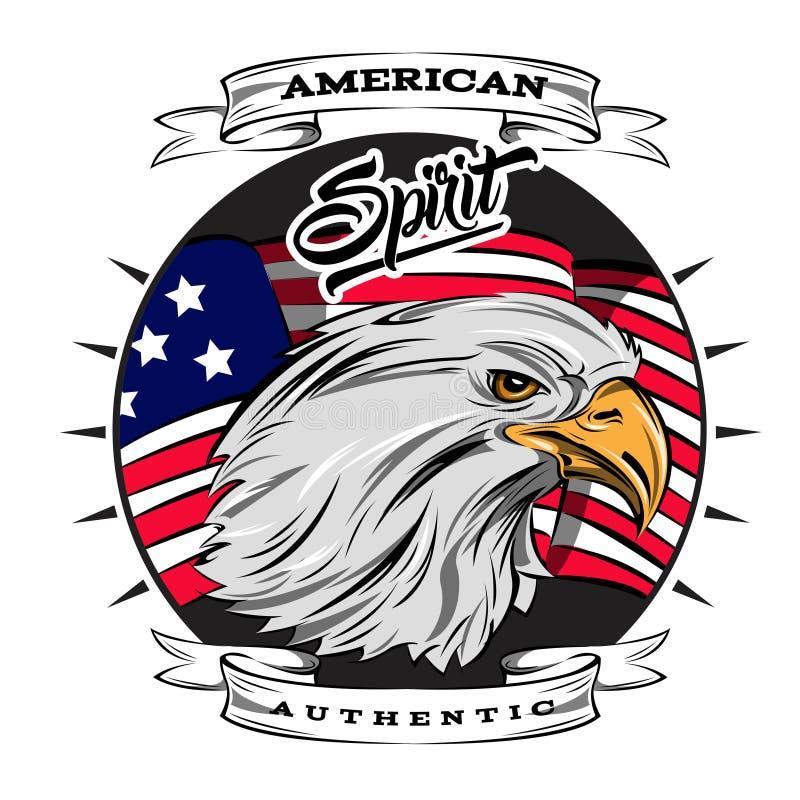 Esprit authentique d'emblème des Etats-Unis illustration libre de droits