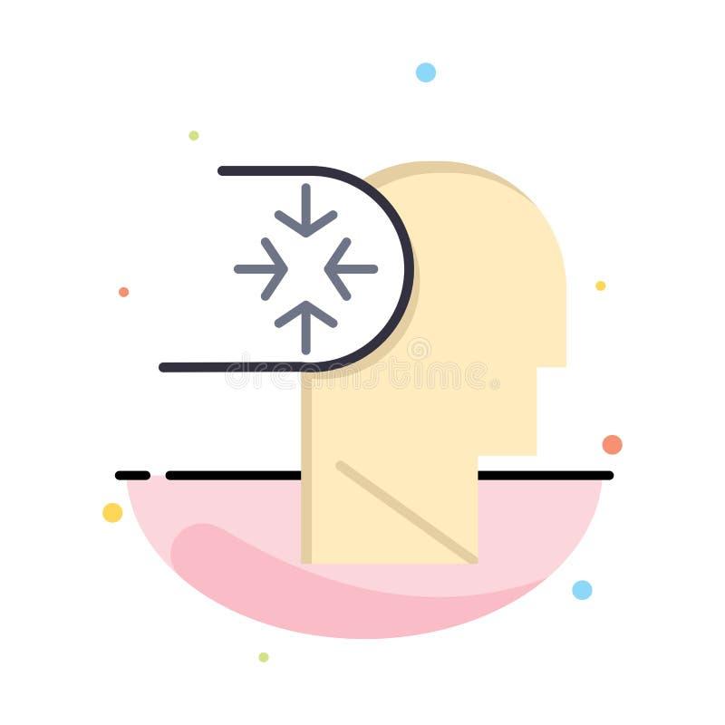 Esprit, autisme, désordre, affaires principales Logo Template couleur plate illustration libre de droits