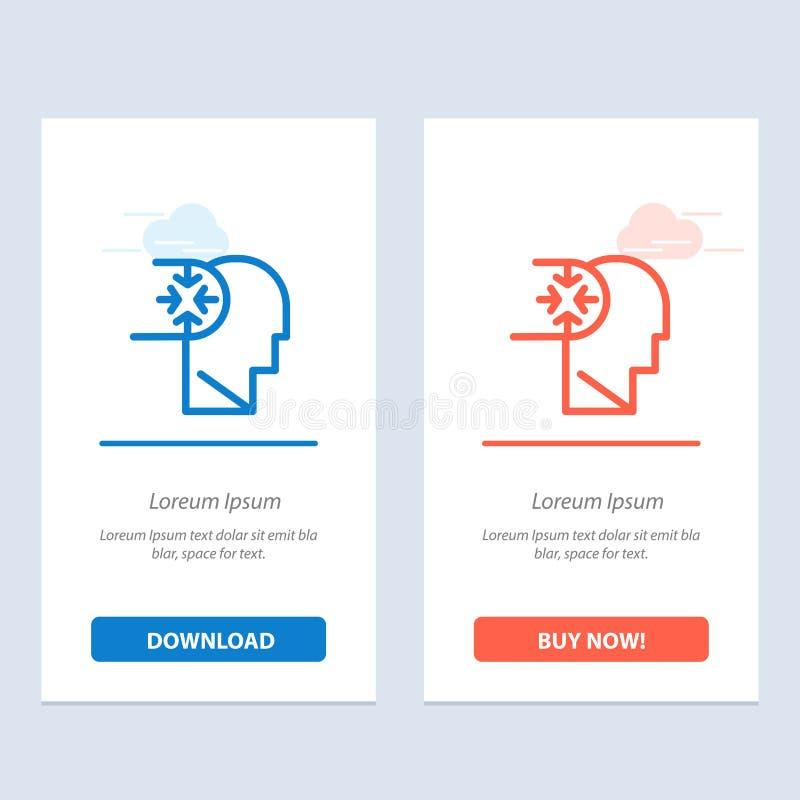 Esprit, autisme, désordre, bleu principal et téléchargement rouge et acheter maintenant le calibre de carte de gadget de Web illustration libre de droits