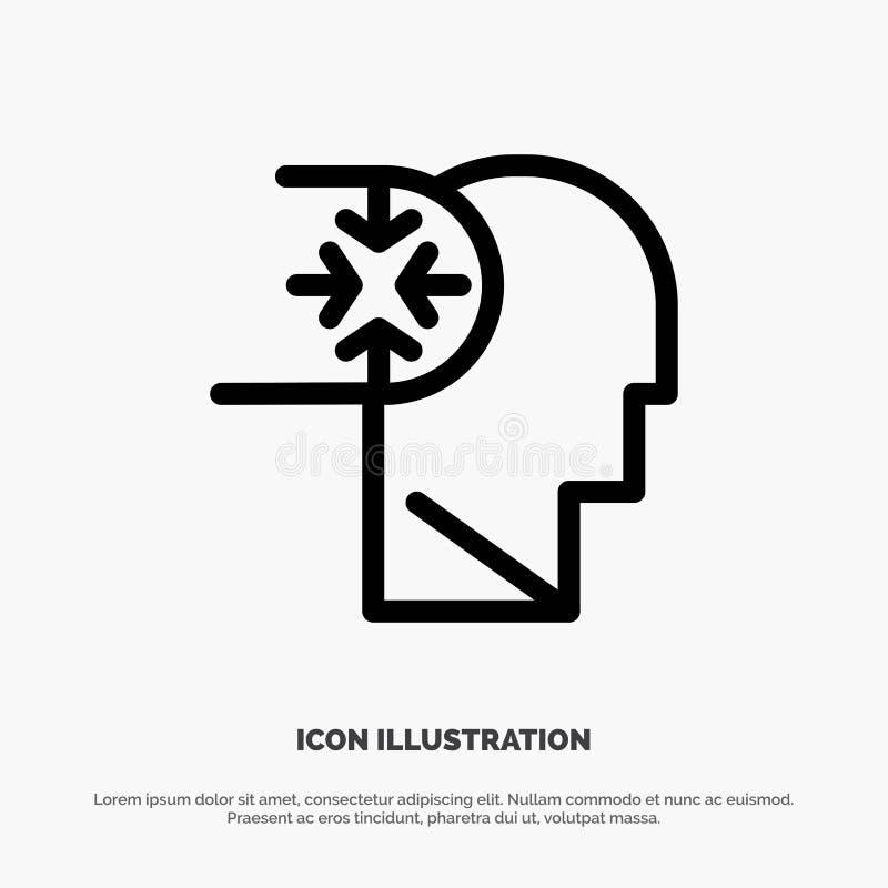 Esprit, autisme, désordre, ligne principale vecteur d'icône illustration de vecteur