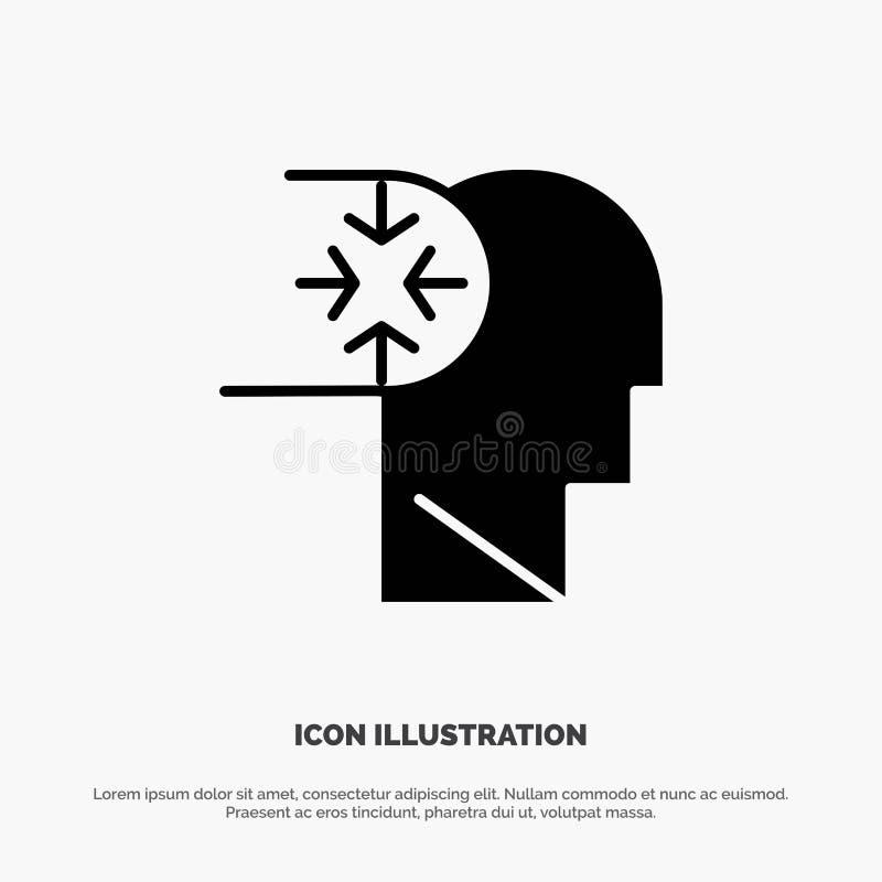 Esprit, autisme, désordre, vecteur solide d'icône de Glyph de tête illustration de vecteur
