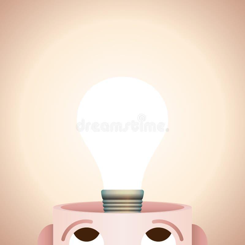 Esprit créatif illustration de vecteur