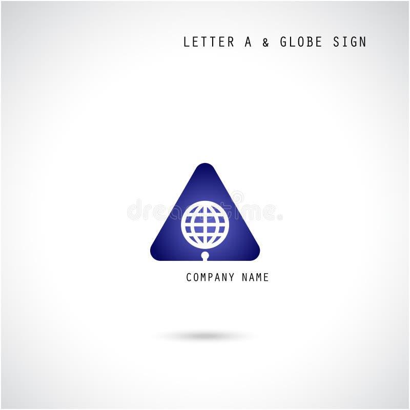 Esprit créatif de calibre de vecteur de conception de logo d'abrégé sur icône de la lettre A illustration libre de droits