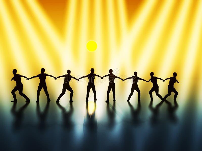 Esprit d'équipe - conduite illustration libre de droits