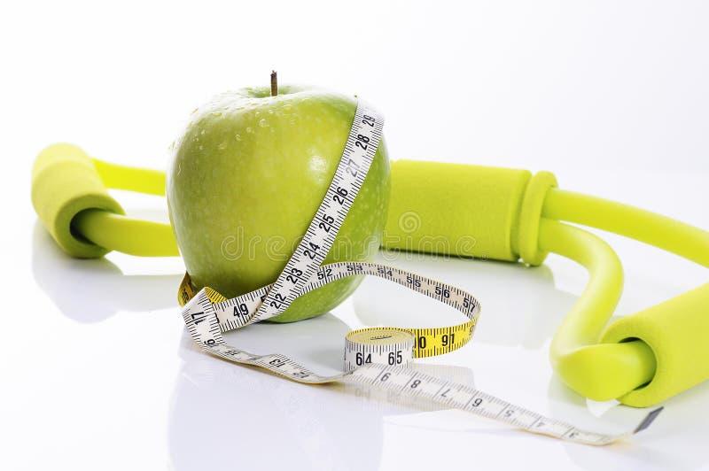 Esprit d'Apple, de forme physique et de nutrition images stock