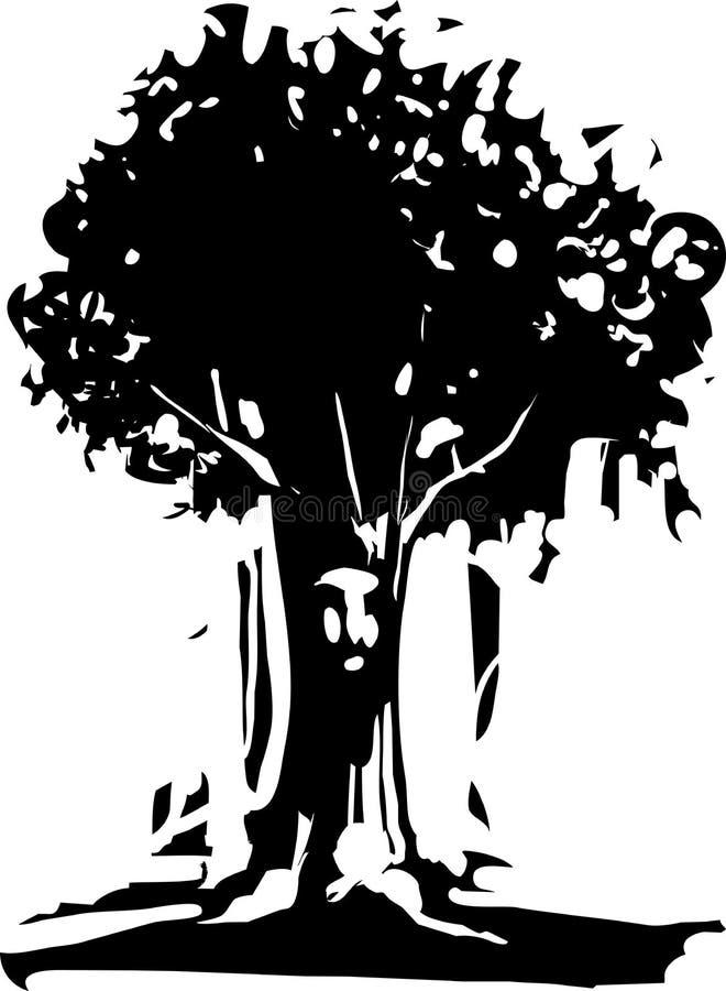Esprit d'arbre de visage illustration stock