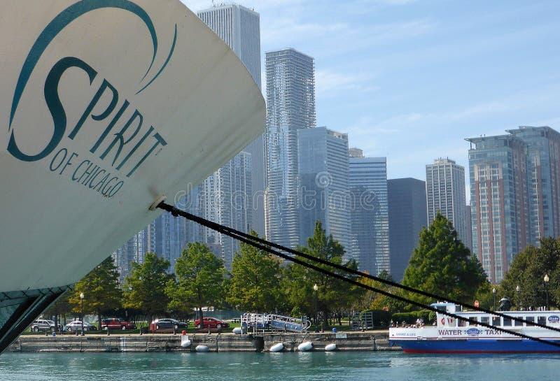 Esprit de Chicago images libres de droits