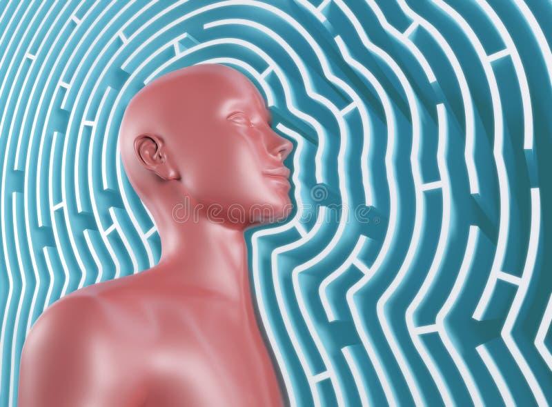 Esprit de labyrinthe illustration de vecteur
