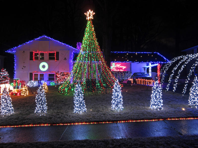 Esprit de Noël à Springfield la Virginie photographie stock