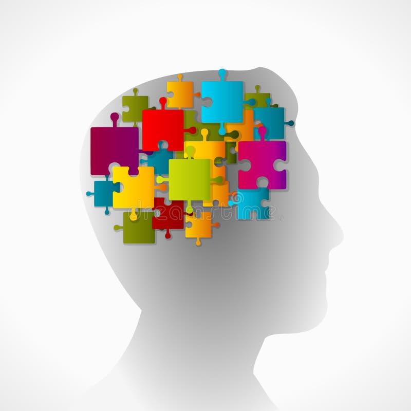 Esprit de puzzle illustration libre de droits