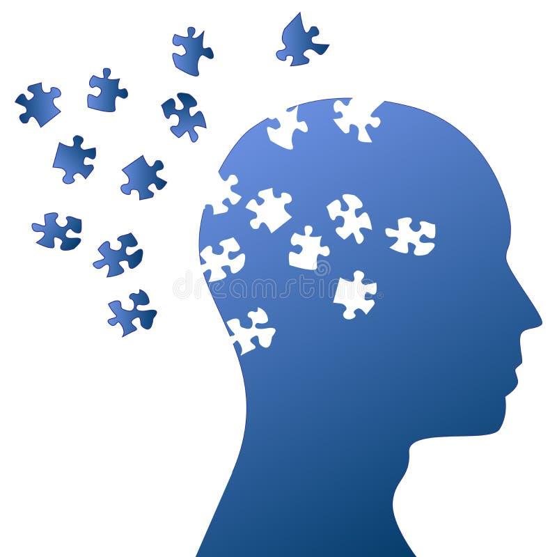 Esprit de puzzle et fulminer de cerveau illustration libre de droits
