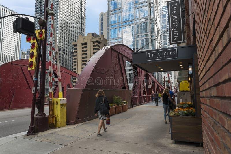 Esprit des rues de Chicago images libres de droits
