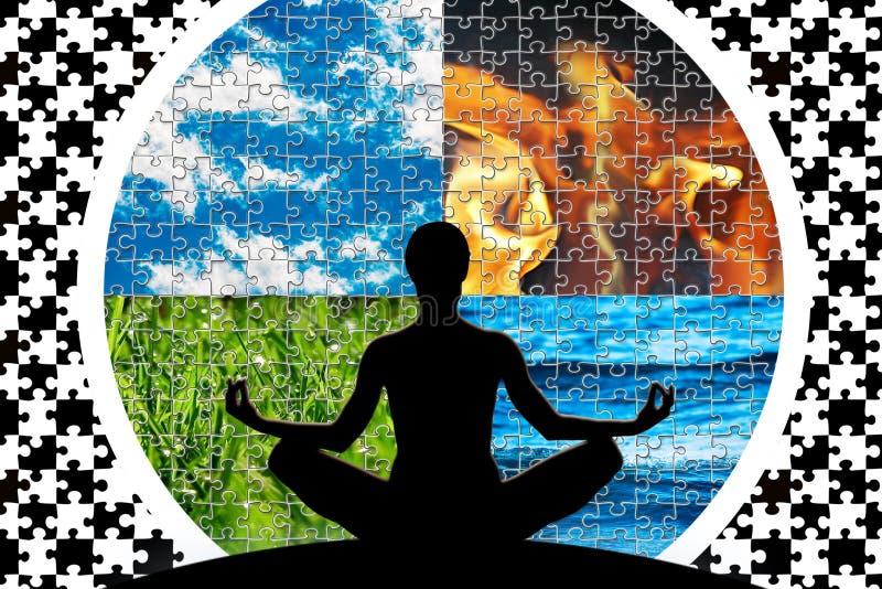 Esprit du monde de puzzle photos stock