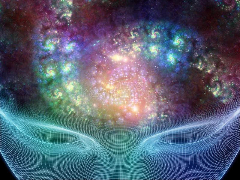 Esprit en spirale illustration de vecteur
