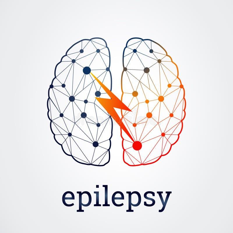 Esprit humain avec l'activité d'épilepsie, illustration de vecteur illustration libre de droits
